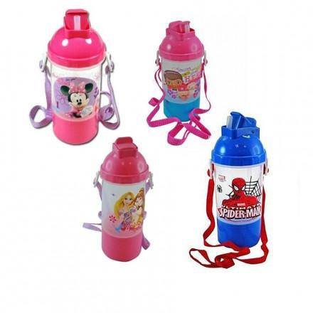 Disney Rock n' Sip Canteen Water Bottle - Minnie Mouse, Doc mcstuffins, Spiderman, Princess