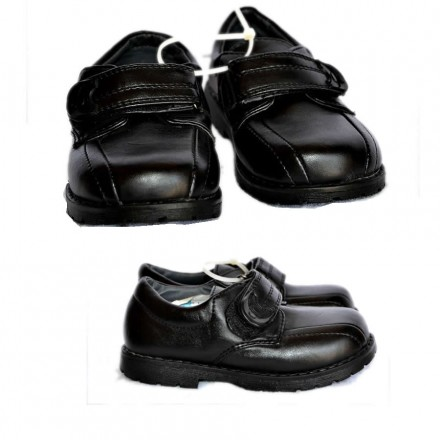 XS Toddler Boys Black Shoes- Size 24