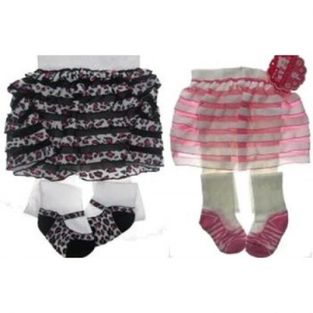 Soft Touch Baby Girls Skirt Tights - 2 designs-3mths-12mths