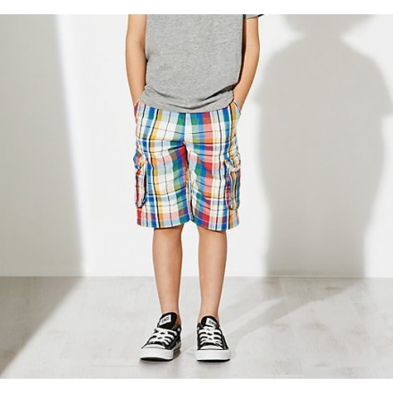 GAP Boys Plaid Combat Bermuda Shorts - 7-10yrs
