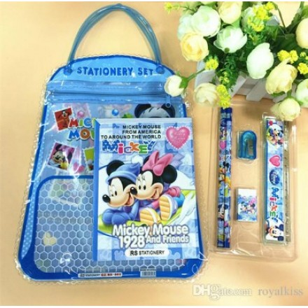 Character 7 in 1 Stationery In carry bag- assorted characters