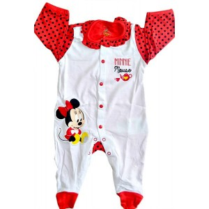 Disney Baby - Minnie Character Overall- 0-12mths
