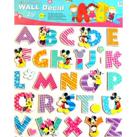 Mickey U0026 Minnie Large ABC Alphabet Wall Decals   26 A Z 3D Alphabet Stickers Part 45