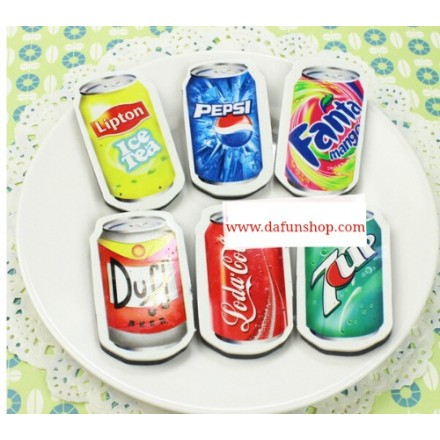 Soda Cans Eraser- assorted
