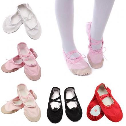 Girls Soft ballet Dance Shoes- 4 colours