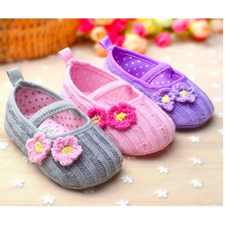 Mabini Baby Girls Knitted Prewalker Shoes (0-12mths)
