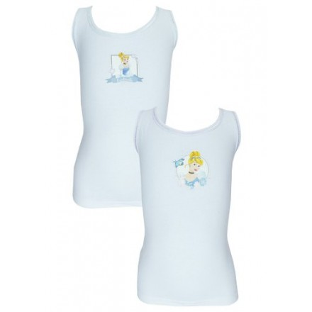 Pack of 2 Disney Cinderella Cotton Vests (18mths-6yrs)