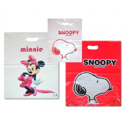 Birthday Nylon Gift Bag- Snoopy, Minnie- pack of 12