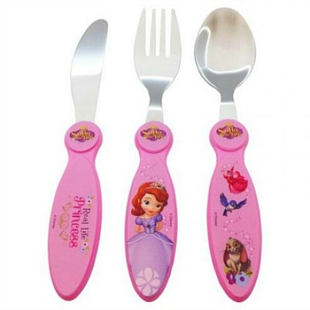 Sofia the First 3 Piece Cutlery Set