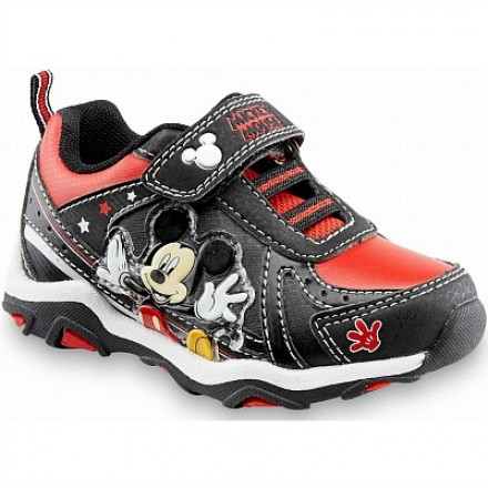 Disney Toddler Mickey Mouse Black/Red Sneaker US Size 11, 12