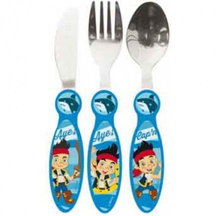 Jake and the Neverland Pirates 3 Piece Metal Cutlery Set