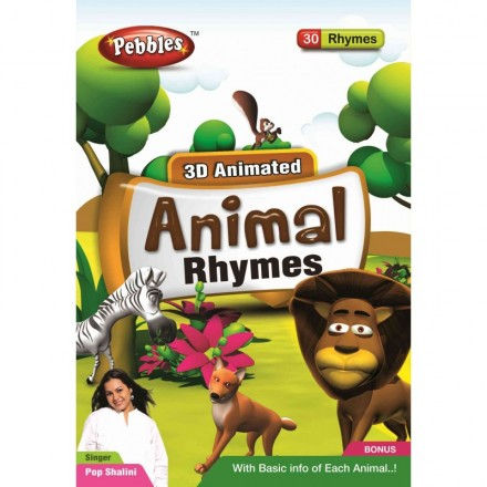 Pebbles 3D Animated Animal Rhymes DVD