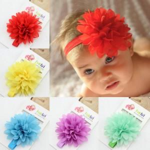 Baby Girl Blossom Elastic Headbands