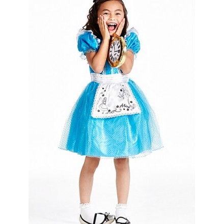 Alice in Wonderland Fancy Dress Costume with bag and Hair band