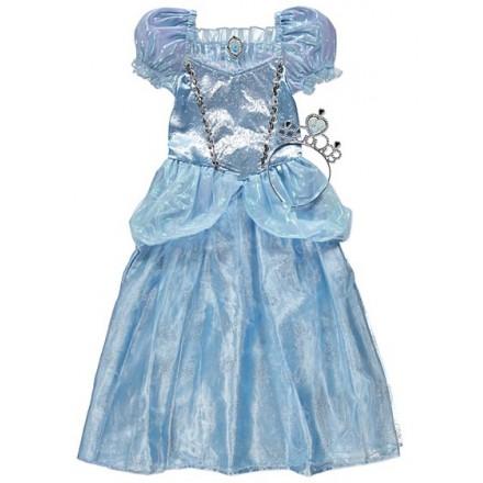 Disney Cinderella Fancy Dress Costume with Crown (3-6 yrs)