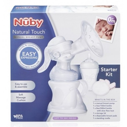 NUBY Natural Touch Comfort™ Manual Breast Pump (0mth+)