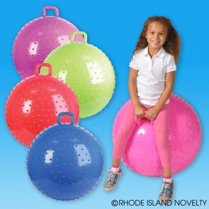 36 Knobby Hopper Ball With Handle Colors May Vary