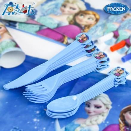 Character 6pack Dessert Plastic Spoons/forks