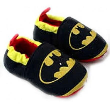 Batman Baby Boy Cotton Crib Prewalker Shoes- Size 1