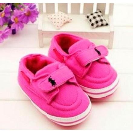 Ralph Lauren POLO Pink prewalker Shoes- 6mths
