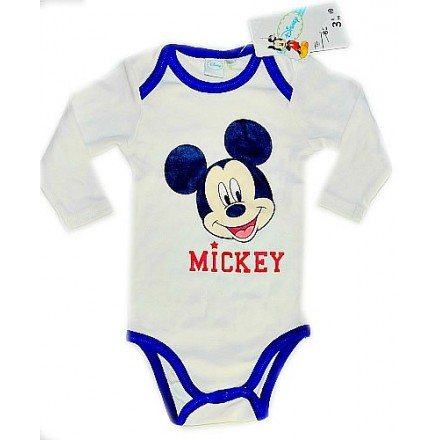 Disney Mickey Long-sleeve Bodysuit (0-24mths)