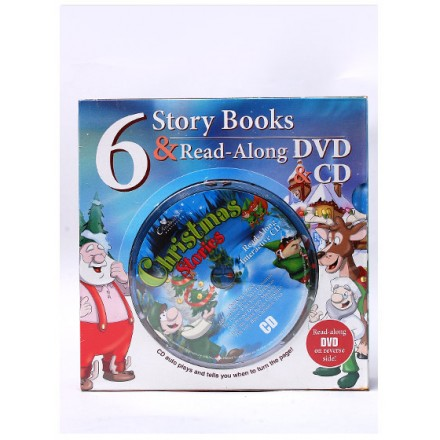 Creative Kids Christmas 6 Story Books & Read-Along DVD/CD Combo