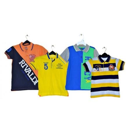 Boys Fashion Polo Tees- assorted designs- 2-12yrs