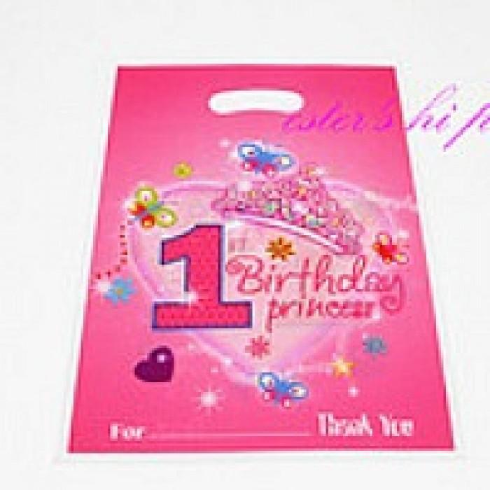 1st Birthday Princess Party Loot Bags 6pcs