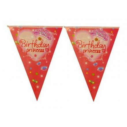 1st Birthday Princess Flag Buntings