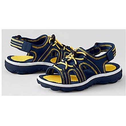 Lands'End Navy Boys Action Sandals- UK 4/EUR 37