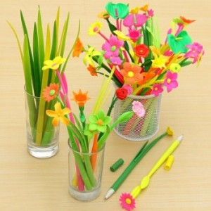 Colourful Flower Pens