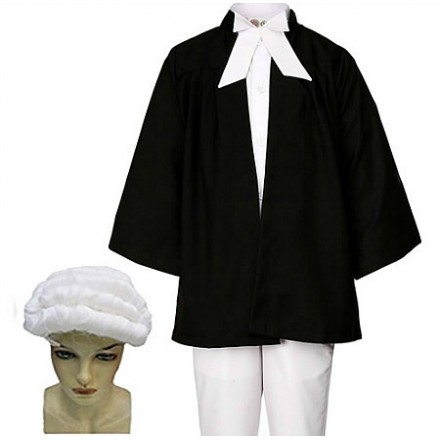 Child's Lawyer Fancy Costume- 2-8yrs