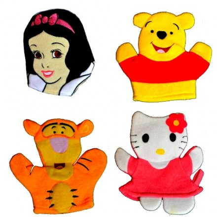 Character Wash Mitt - Assorted designs- Princess, Kitty, Pooh, Tigger