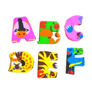 6pack Numbers & Alphabets Erasers in Blister Pack