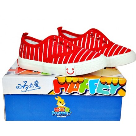 Haffey Rabbit Red stripe Sneakers (EUR Size 25-30)