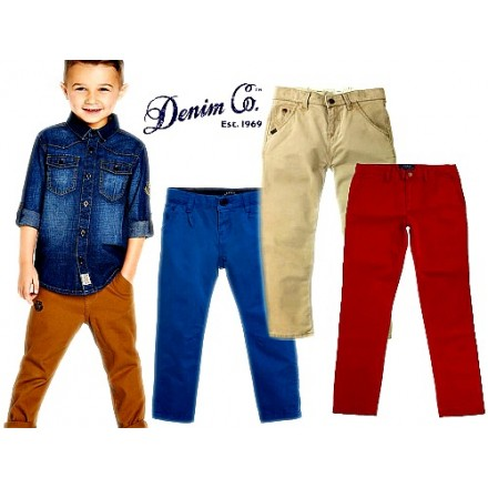 Denim Co. Boys Chinos Pants - assorted colours- 12mths-9yrs