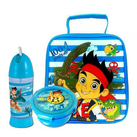 Jake and the Neverland Pirates Lunch Bag Set. includes Bottle, plate and lunch bag