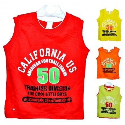 Miniclub Boys Muscle Tees- assorted colours- 2-6yrs
