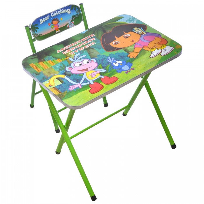 Beautiful Kids Cartoon Foldable Study Table And Chair  Assorted Designs