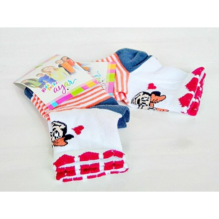 Ayar Minnie Mouse baby Socks- 6-12mths