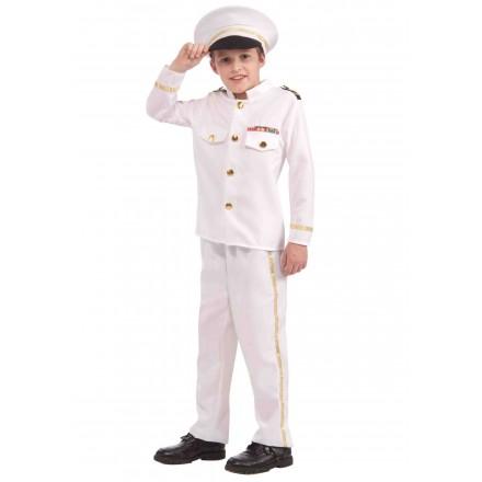 Child Sea Captain Admiral costume (4-8yrs)