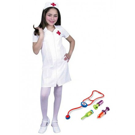 Nurse Girl Costume with tools- 4-6yrs, 7-10yrs