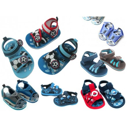 Soft Touch boys Eva Beach Sandals- 3mths-12mths (assorted designs)