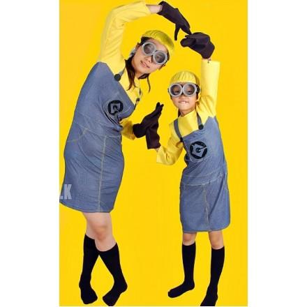 Girls Minion Costume  (2- 6yrs)