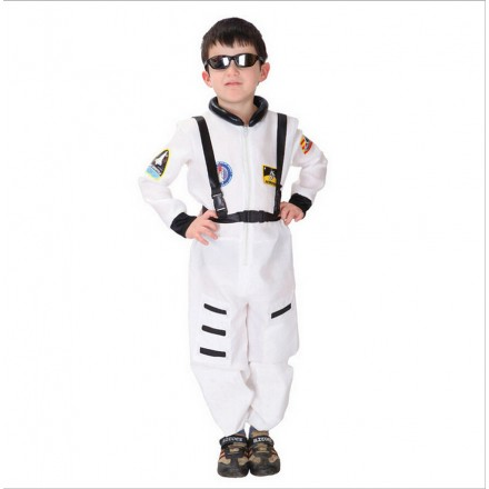 Kid's White Astronaut Costume- 4-6yrs