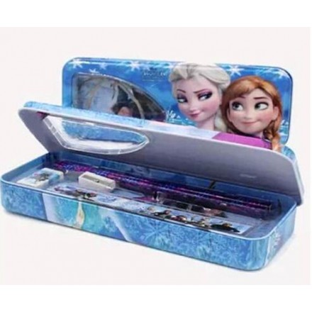 Cartoon Pencil Case With Stationery Set- assorted
