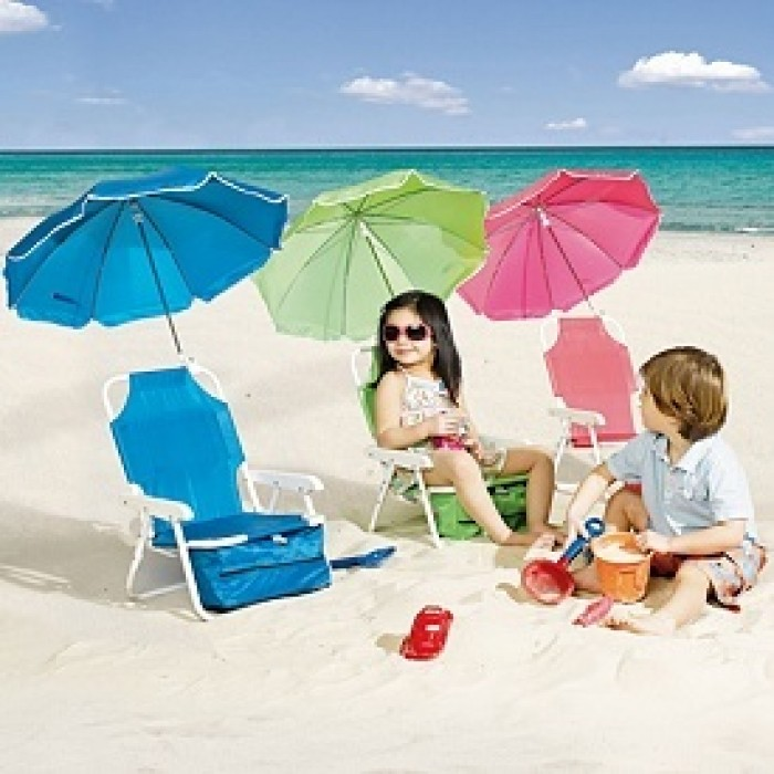 & Baby Beach Chair with Umbrella- assorted colours