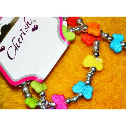 Jewelry Set for Little Girls- Butterfly Necklace and Bracelet