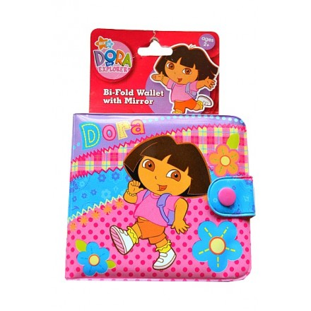 Dora the Explore bi-Fold Wallet With Mirror