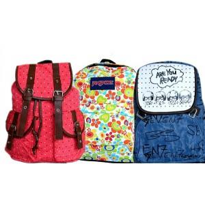Fashion Girls/Boys College Satchel Rucksack- assorted designs